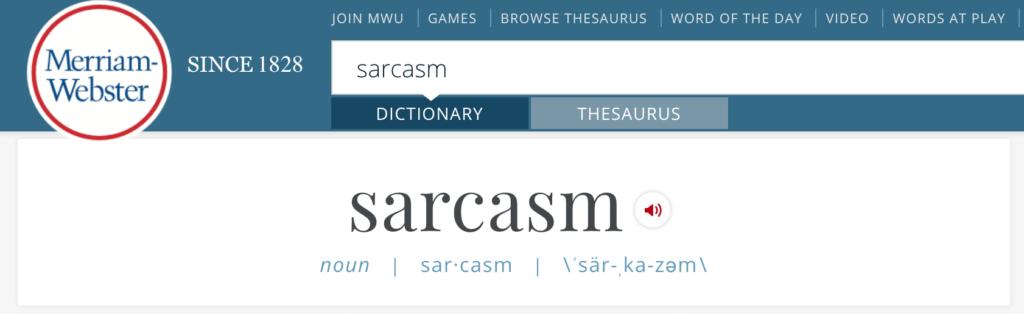Photo of Merriam-Webster Website