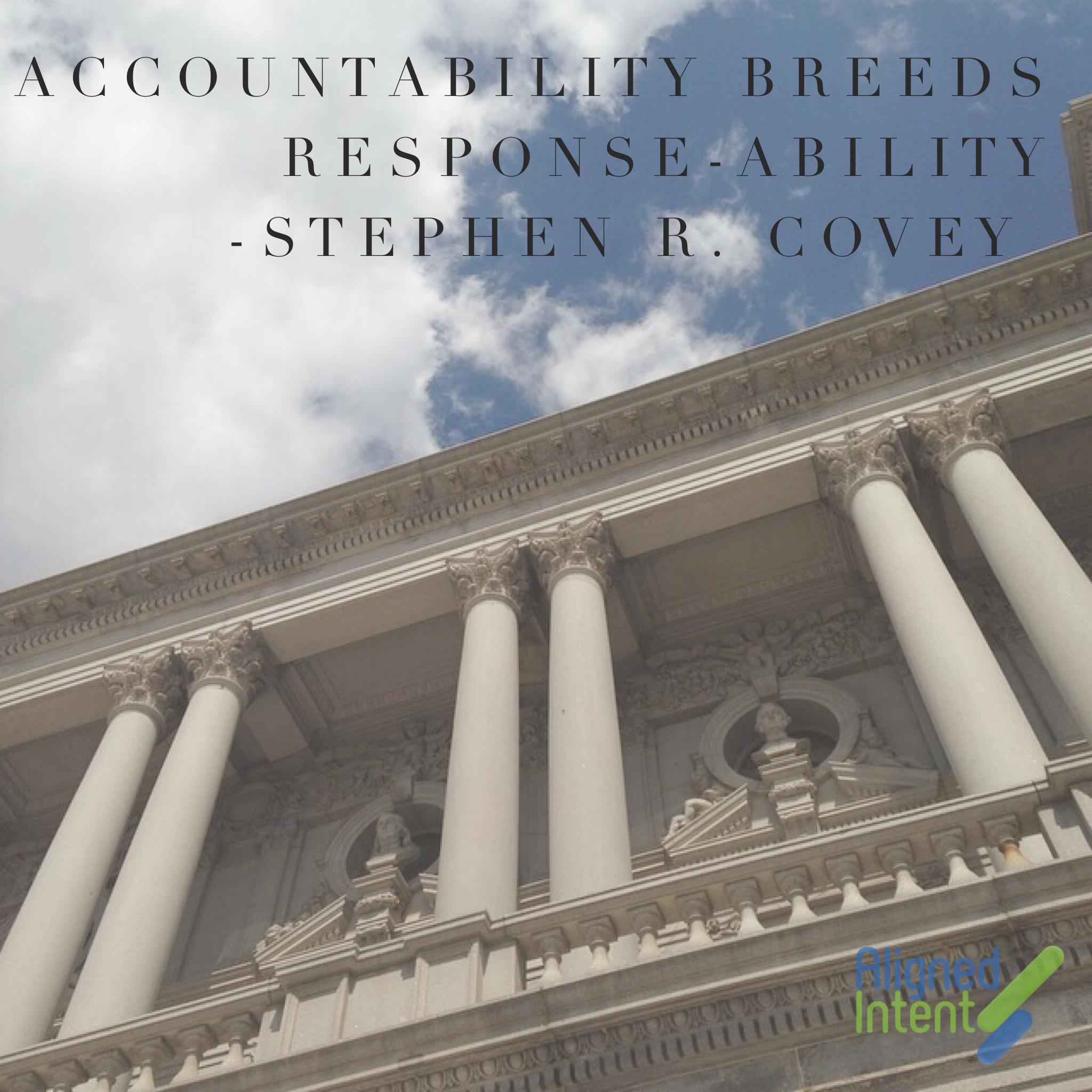 Covey on Accountability…